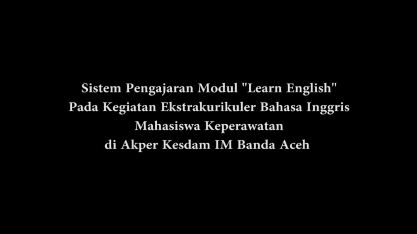 Kegiatan Ekstrakurikuler di Lab Bahasa Akper Kesdam IM Banda Aceh